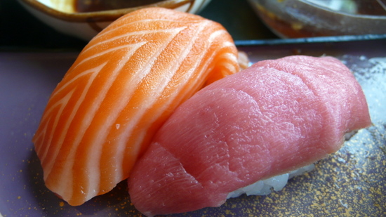 clsoe up of salmon and toro
